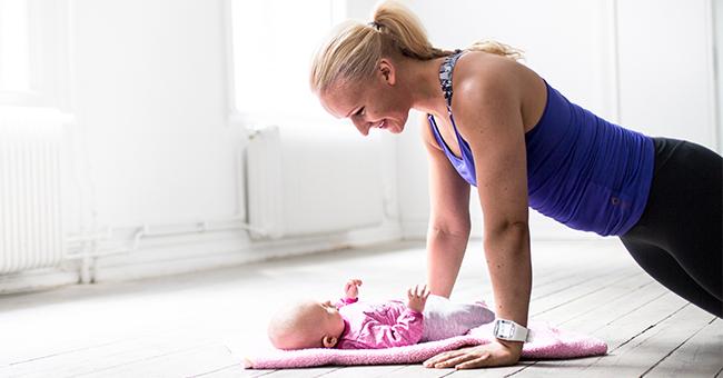 träna core gravid